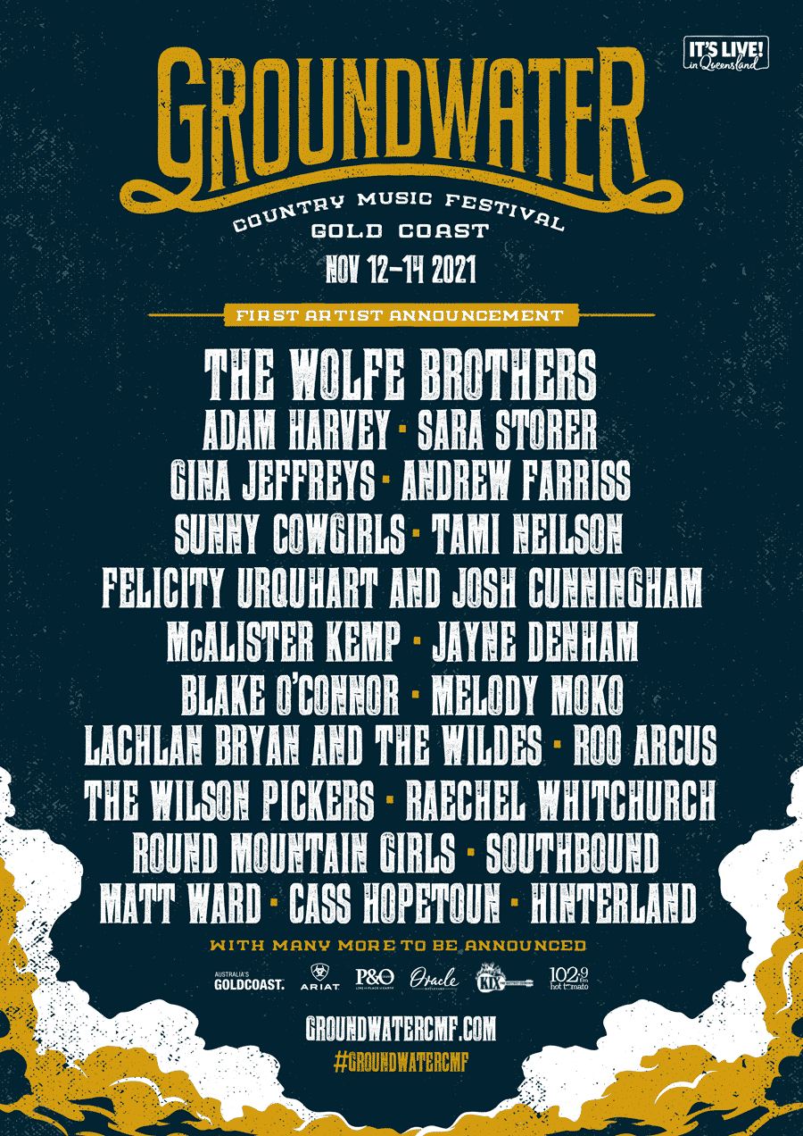 Groundwater returns in November and here's the first lineup for 2021