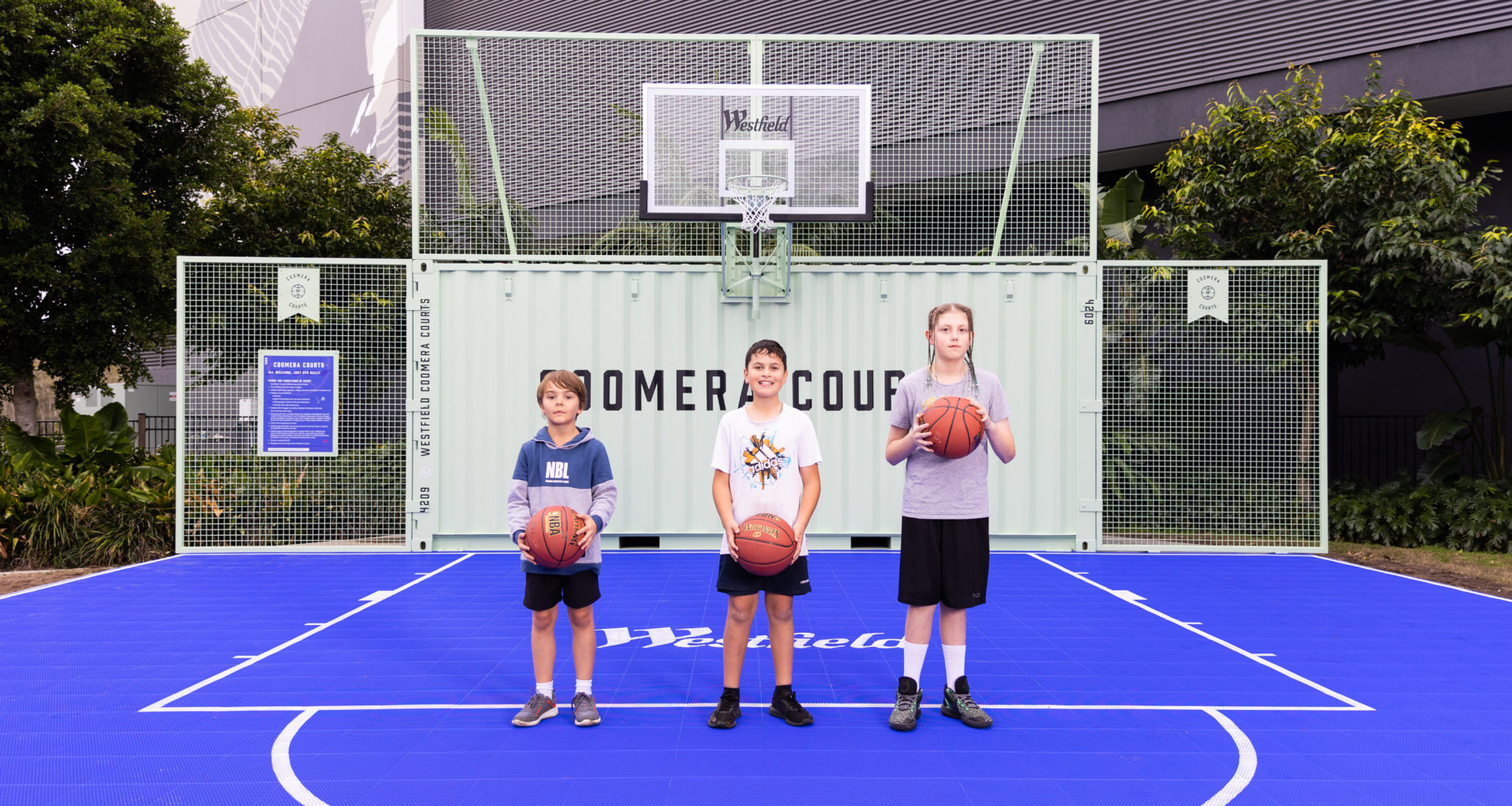 Westfield Coomera launches their own community Basketball Court